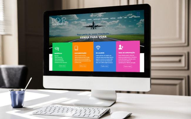 Website Escola Voar | Agência iMAGON