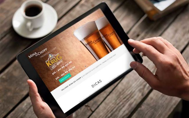 Website Mina do Chopp | Agência iMAGON